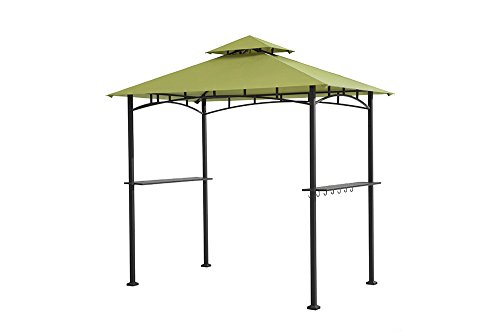 Sunjoy 8' x 5' Sylvan Soft top Grill Gazebo, Green Top