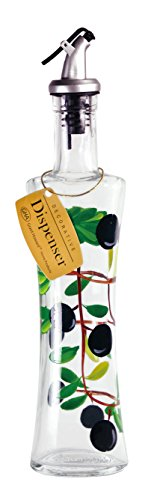 - Grant Howard Olives Glass Hand Painted Oil and Vinegar Cruet, 16 oz, Clear