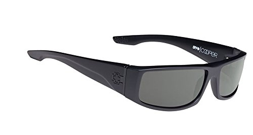 Spy Cooper Sunglasses - Spy Optic Steady Series Polarized Racewear Eyewear - Color: Matte Black/Grey, Size: One Size Fits All (Sunglasses Spy Crystal)
