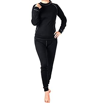 WW SPORTOWN Women's Merino Wool Bottom Sports Leggings Base Layer Pant