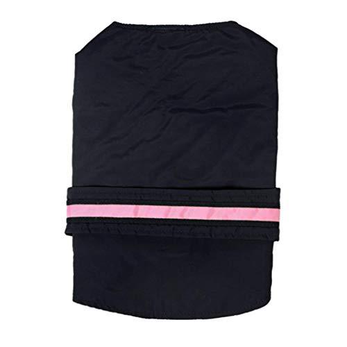 iMakcc Pet Rainwear, LED Safety Flashing Strip Dog Raincoat Jacket Cute Puppy Poncho (S, Black) ()