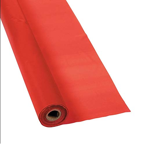 Red Plastic Table Cover Roll - 40