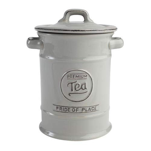 Pride of Place Tea Coffee and Sugar Storage Jars Ceramic Cool Grey by T/&G Woodware