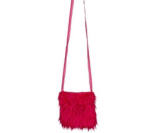 Orlob borsa a tracolla in peluche, rosa