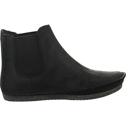 Plats Leather Femmes Noirblack Clarks Chaussons Leather261367924 Black BoQCeErdxW