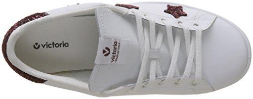 victoria Damen Deportivo Basket Aplicacion Estrellas Sneaker Rot (Burdeos)