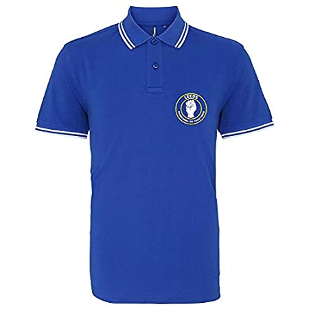 EBUK Leeds Marching on Together Northern Soul Casual Football Mens Polo Shirt Unofficial 314J5GEBI9L