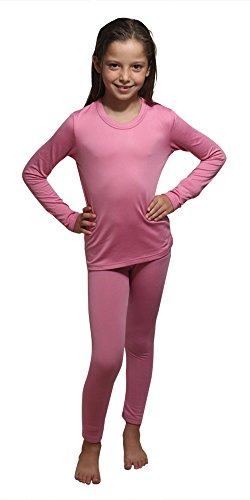 - Children Thermal Underwear Set by Outland; Base Layer; Soft Fleece; Top&Leggings Pink
