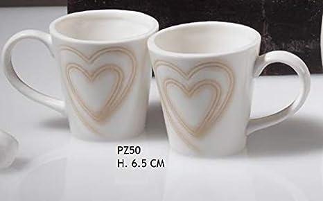 Bomboniere Matrimonio Tazzine.Oggettistica Per Bomboniere Coppia Tazzine Caffe Porcellana Con