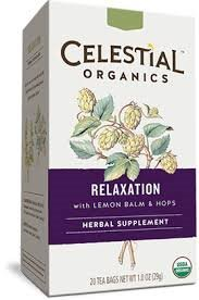 Celestial Organics Relaxation Herbal Supplement Tea (20 teabags) by Celestial Organics