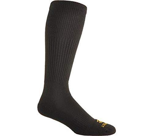 Dan Post Men's Cowboy Certified Over The Calf Socks, 2 PACK, Black,10.5-13
