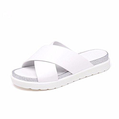 calzature Summer scarpe da fondo bagno YMFIE Donna e piscina ciabatte white spesso sandali 0qTWwS5