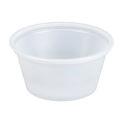 SafePro 4 oz Portion Cups with Lids, 150 cups with LIDS (...