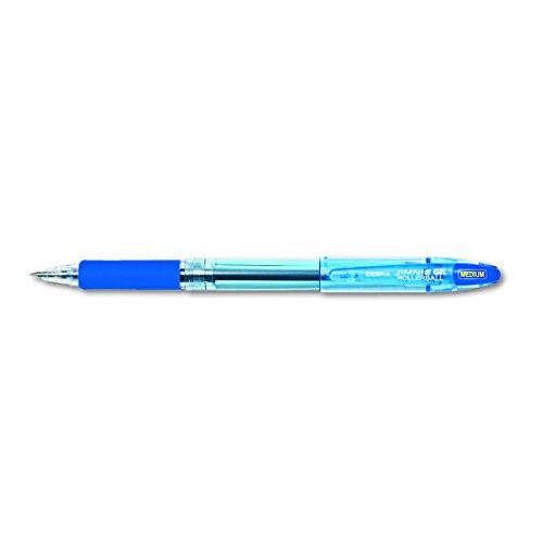 Zebra 44120 Jimnie Roller Ball Stick Gel Pen, Blue Ink, Medium (Pack of 12)