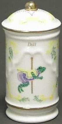 Lenox Porcelain Carousel Spice Jar - Dill