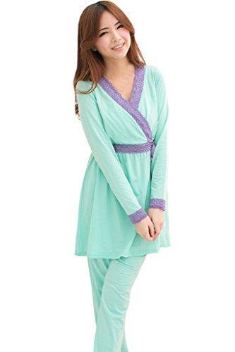 [Bearsland Women's Maternity and Nursing Japanese Weekend Sleepwear] (Japanese Weekend Nursing Pajamas)