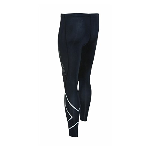 2XU Men's HYOPTIK Compression Tights, Black/Silver Reflective, X-Large by 2XU (Image #2)
