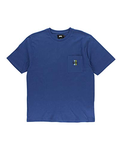 Stussy Men T-shirt - Stussy 2 Bar Stock Jersey Men's Blue (Medium)
