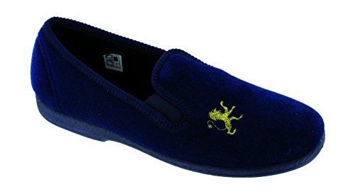 Mirak Boys Spider Warminster Fuzzy Lined Web Pattern Slipper Navy Navy