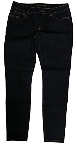 Michael Kors Womens Basics Denim Blue Jeans Overdyed Indigo Wash - Junior Kors Michael