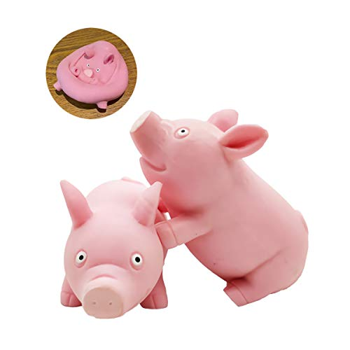 Squishy Toy Pink Pig Gifts for Kids Adults Popping Out Eyes Animal Squishies Anxiety Stress Relief Autism Disorders Funny Piggy Sensory Stress Toy for Girl Boy Women Girlfriend Birthday Party Favors