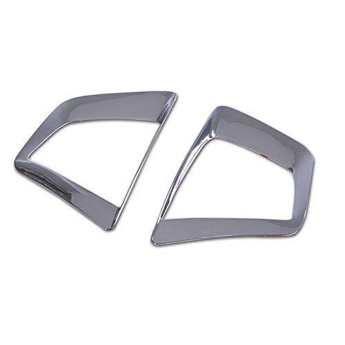 ABS Chrome Fog Light Lamp Cover For IX25 Hyundai 2015 Creta Car-styling Lamp Hoods Light Trim Plastic Stickers (FRONT FOG LAMP)