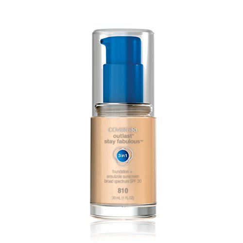 COVERGIRL Outlast Stay Fabulous 3-in-1 All Day Foundation Classic Ivory, 1 fl oz (30 ml)