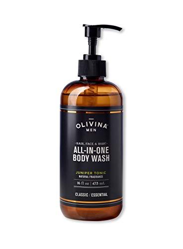 Olivina Men Hair, Face & Body All-in-One Wash, Juniper Tonic, 16 Fl. Oz.