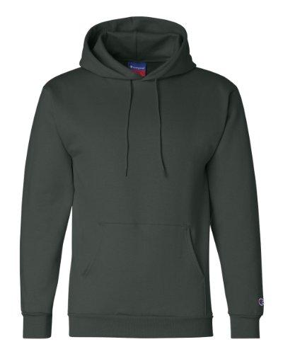 (Champion Adult Pullover Hooded Sweatshirt, Dark Green,)