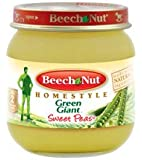 Beech Nut Home Style Green Gaint Stage 2 Sweet Peas 4 Oz 6 Packs