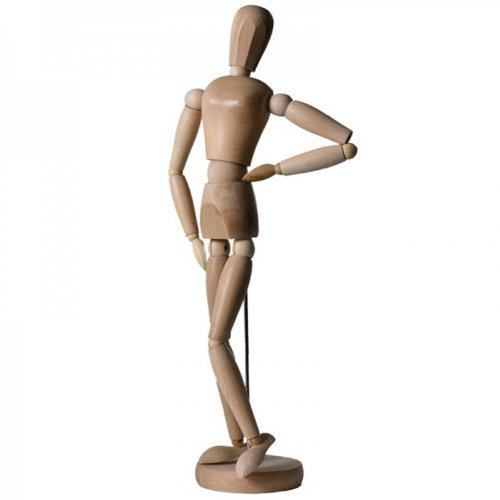Artina Manichino per disegno Dalí 11cm - modello snodabile in legno per disegnare figura femminile - artisti belle arti