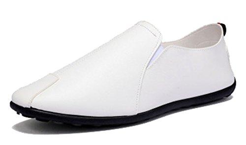 Blanco Cordones Seaoeey con Zapatos Hombre Planos PwwxqXFZ4