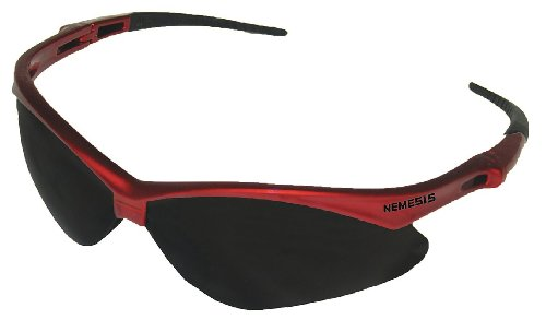 Jackson Safety V30 Nemesis Inferno Smoke Lens Safety Eyewear with Red - Glasses Series Safety