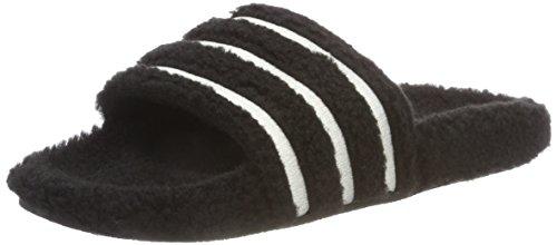 adidas Originals Adilette Sliders Sandals 6.5 B(M) US Women / 5.5 D(M) US Core Black/Chalk White