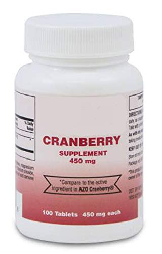 12 Bottles of Cranberry Supplement. 450 mg Cranberry Tablets to Keep Your Urinary Tract Healthy. 100 Tablets per Bottle. Tamper evident Bottle. Latex-Free.