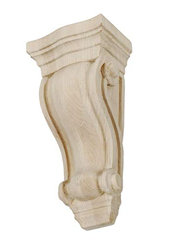 Large Unfinished Classic Corbel - 10-1/2 in. x 4-7/8 in. x 3-1/2 in. Unfinished North American Solid Hard Maple Classic Traditional Plain Wood Corbel