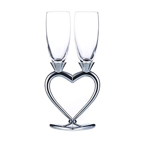 Szqiqi 2-Piece Wedding Champagne Glass Set Flute Glasses Wine Glass for Wedding Wedding Gift Glasses (Champagne Glasses 2#)