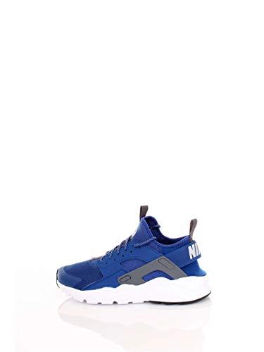 Blue Grey White Mens Sneakers - NIKE Air Huarache Run Ultra Men's Running Shoes Gym Blue/Wolf Grey-White 819685-411 (10 D(M) US)
