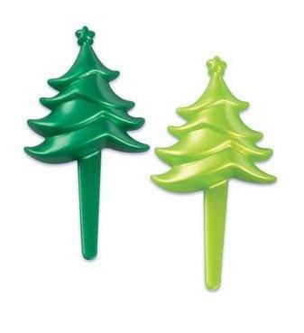 Christmas - Trees Cupcake Picks Assorted - Set of 12