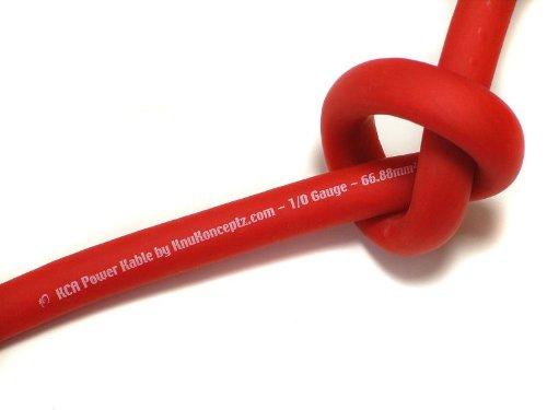 KnuKonceptz KCA Kable 8 Gauge Power Wire Red (sold in 20 foot increments)