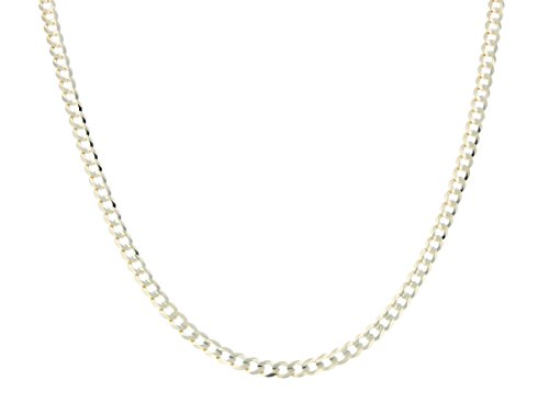 24 Inch 10k Yellow Gold Curb Cuban Chain Necklace for Men and Women, 0.12 Inch (3.1mm) by Glad Gold
