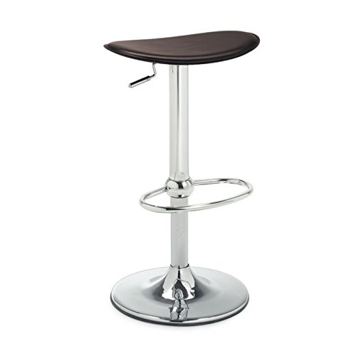 Swing Barstool by Connubia Calligaris - White Regenerated Leather Seat with Chrome Structure