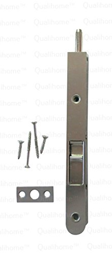 Satin Nickel Screws (Premium Quality Door Flush Bolt with Strike and Screws (Satin)