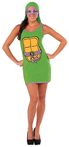 Rubie's Women's TMNT Classic Costume Donatello Hooded Tank Dress, Green, Large -