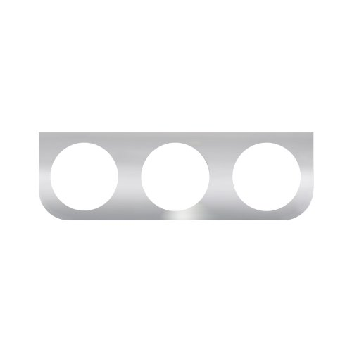 18 Three Light Bracket (Grand General 81503 Stainless Steel L-Shaped Mounting Bracket with 3-Round Hole for 4