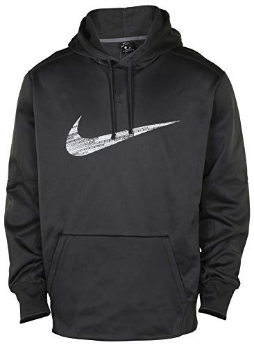 Nike Men's Therma FIT Pullover Hoodie Dark Grey (Dark Grey, XX-Large)