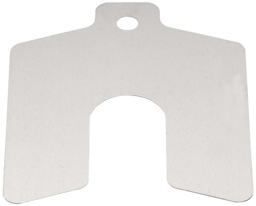 """UPC 698158426553, Stainless Steel Slotted Shim, Unpolished (Mill) Finish, 0.075"""" Thickness, 6"""" Width, 6"""" Length (Pack of 5)"""