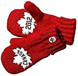 Canada Olympic Team 2012 Collection Adult Red Mittens-RED-Large/X-Large NEW