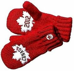 Canada Olympic Team 2012 Collection Adult Red Mittens-RED-Large/X-Large - Mitten Red Collection