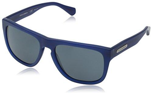 D&G Dolce & Gabbana Men's Mimetic Square Sunglasses,Matte Blue,56 - D&g 2014 Sunglasses